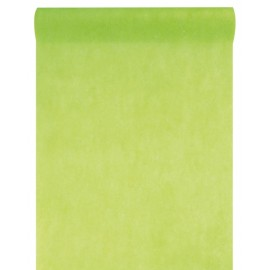 Chemin de table intissé vert anis 10 M