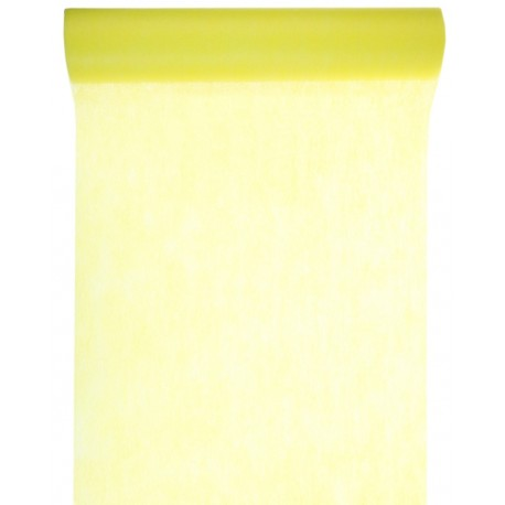 Chemin de table intissé jaune 10 M