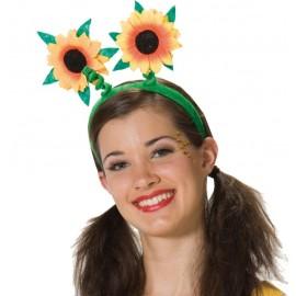 Serre-tête fleurs tournesol adulte