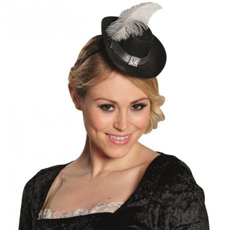 Mini chapeau mousquetaire femme