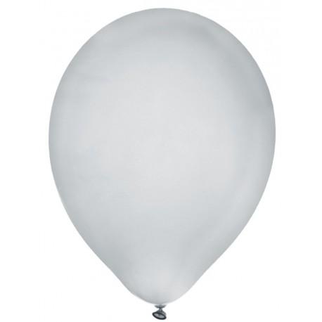 Ballon argent métallisé 23 cm les 8