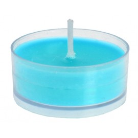 Bougie chauffe-plat turquoise les 4