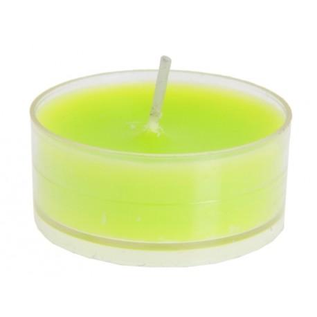 Bougie chauffe plat vert anis les 4