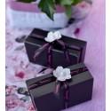 Ruban Glamour noir fuchsia satin 10 mm x 10 M