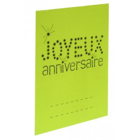 Marque-place anniversaire carton vert anis les 6