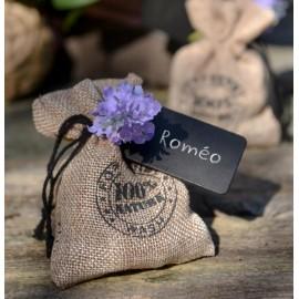 Sachets à dragées coton naturel 100% nature 10 cm les 4