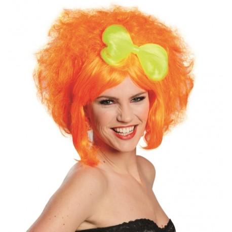 Perruque courte orange femme : achat Perruques