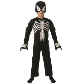 Déguisement Spiderman noir Ultimate™ garçon musclé luxe