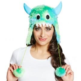 Bonnet monstre bleu et vert adulte (monster)