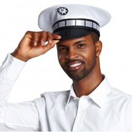 Casquette policier blanche adulte