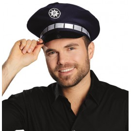 Casquette policier bleue adulte et enfant