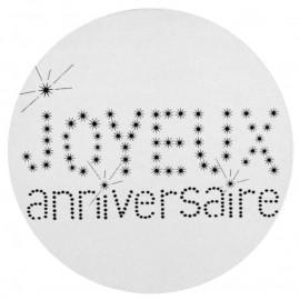 Stickers anniversaire 4 cm les 50