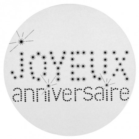 Sticker anniversaire 4 cm les 50