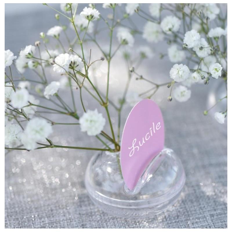 Marque place soliflore les 2 marque places fleur d co de table - Soliflore marque place ...
