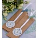 Etiquettes vintage with love menthe carton avec ruban les 12