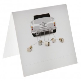 Marque-place car just married carton les 6