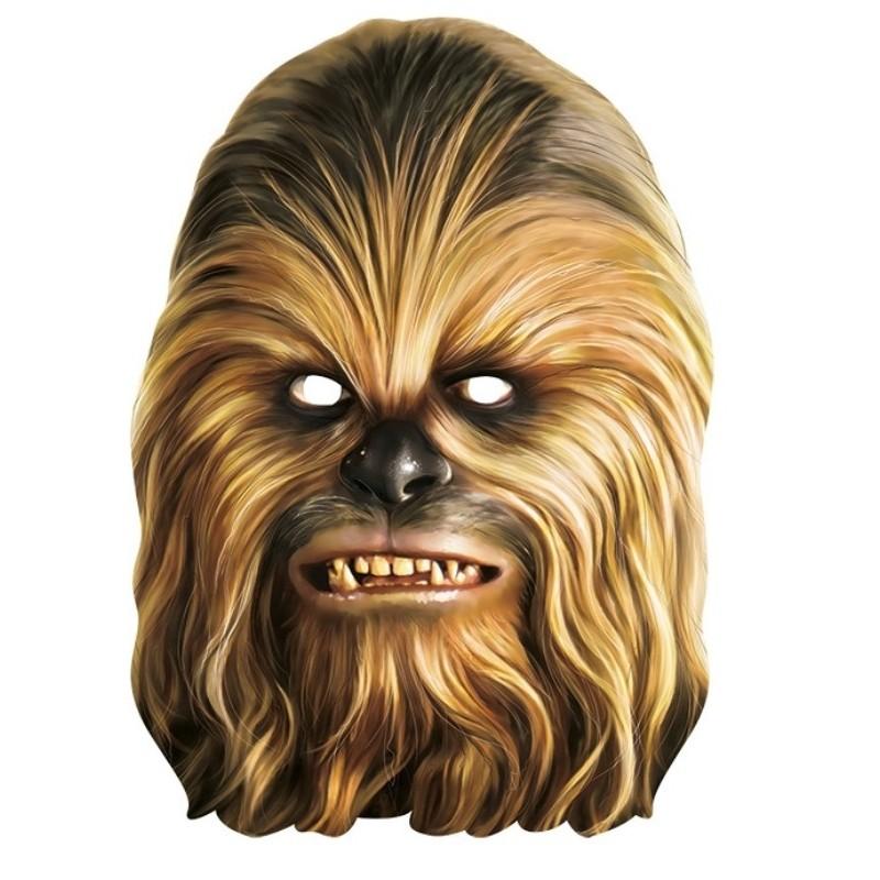 Masque carton chewbacca star wars masques star wars - Visage de dark vador ...