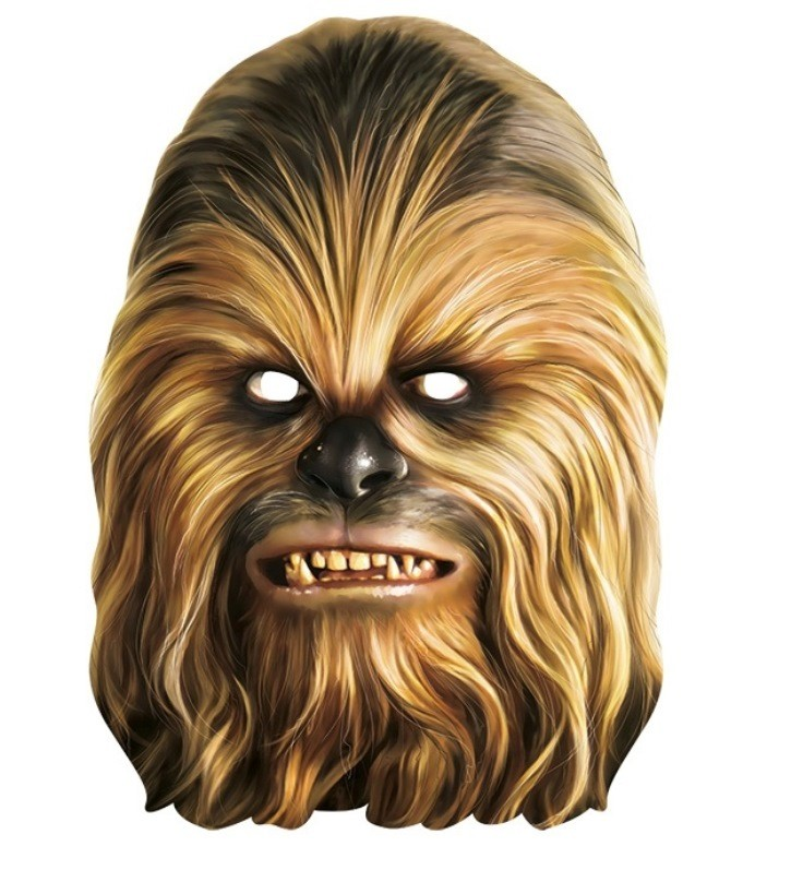 Masque carton chewbacca star wars masques star wars - Star wars a imprimer gratuit ...