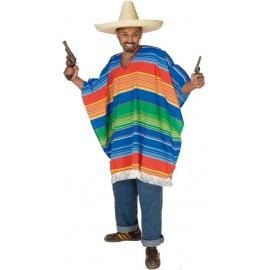 Déguisement poncho mexicain homme