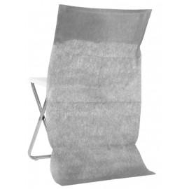 Housse dossier de chaise intissé gris les 10