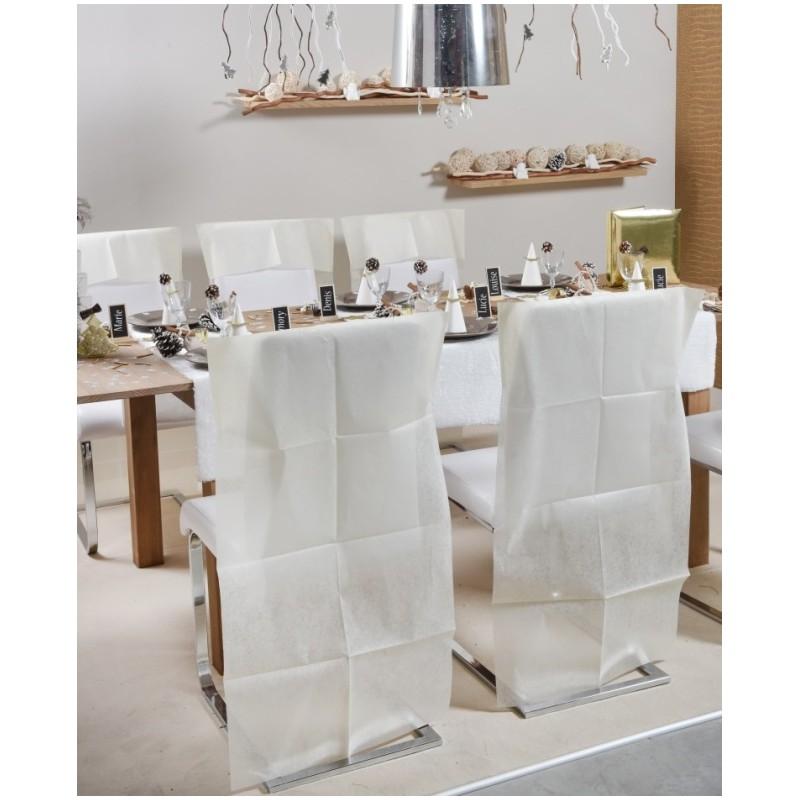 Housse dossier de chaise intiss gris les 10 housses de - Housses chaises jetables ...