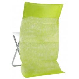 Housse dossier de chaise intissé vert anis les 10