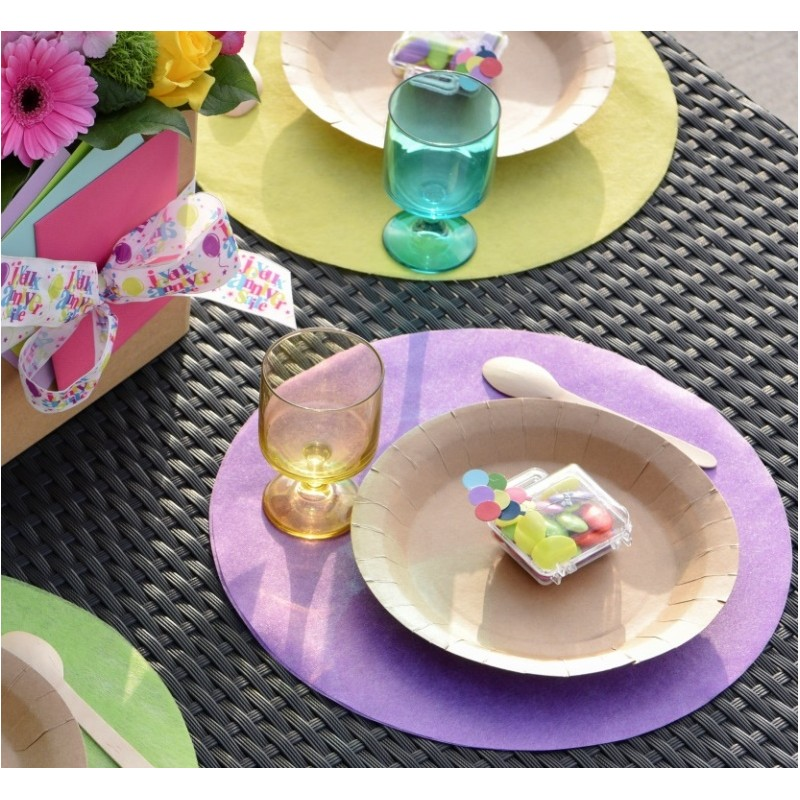 Set de table parme rond en intiss les 50 achat sets de - Set de table intisse ...
