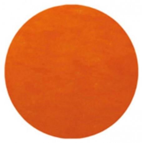 Set de table orange rond en intissé 34 cm les 50