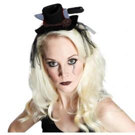 Mini chapeau Halloween noir femme