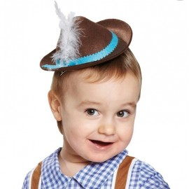 Mini chapeau tyrolien brun enfant