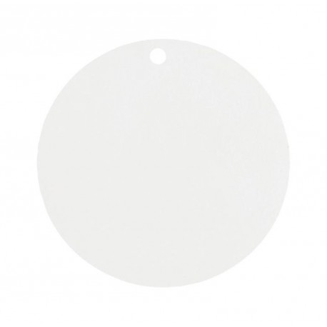 Etiquette carton blanc ronde les 10