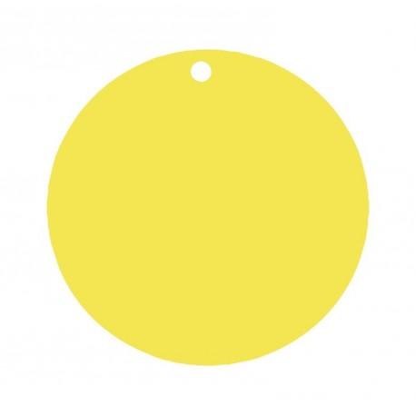 Etiquette carton jaune ronde les 10