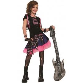 Déguisement pink rock fille