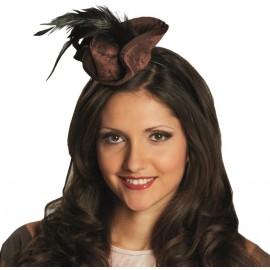 Mini chapeau pirate brun femme