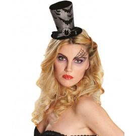 Mini chapeau haut de forme chauve souris femme