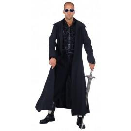 Déguisement manteau long noir homme luxe