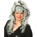 Perruque blanche et noire femme