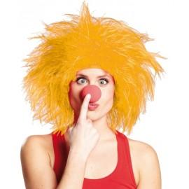 Perruque clown jaune adulte