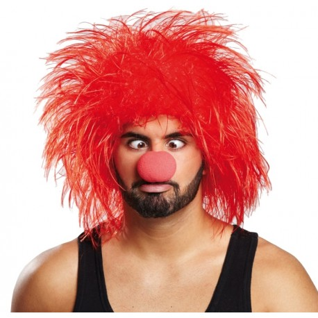 Perruque clown rouge adulte achat Perruques clown adulte Déguisements 0224dab7a180