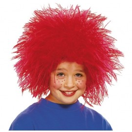 Perruque clown rouge enfant