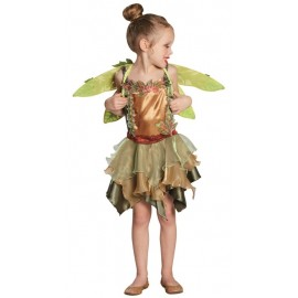 Déguisement elfe fée des bois fille luxe
