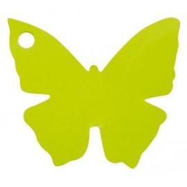 Etiquettes papillon vert anis les 10