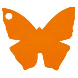 Etiquette papillon orange les 10