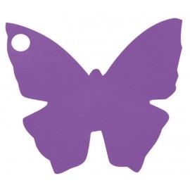 Etiquette papillon violet les 10