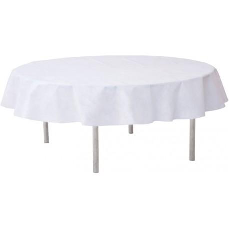 Nappe blanche ronde en intissé opaque 240 cm