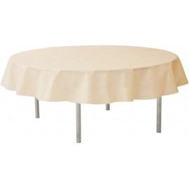 Nappe ivoire ronde en intissé opaque 240 cm