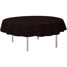 Nappe noire ronde en intissé opaque 240 cm