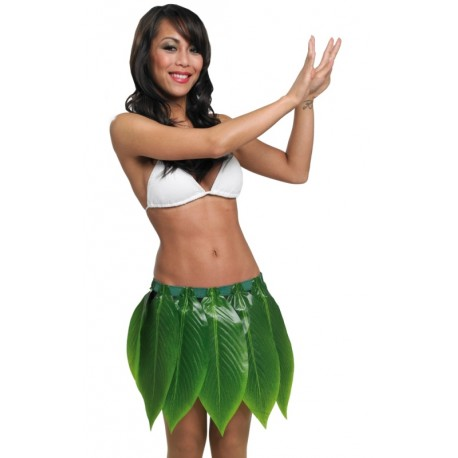 Déguisement Jupe hawaïenne feuilles de bananier adulte