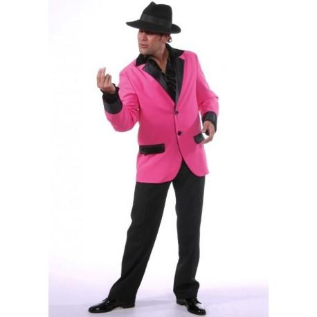 Déguisement Veste Deluxe Rose Homme