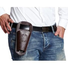 Holster cowboy brun adulte